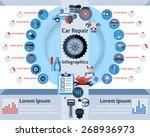 car repair infographics set...   Shutterstock .eps vector #268936973