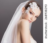 portrait of beautiful girl...   Shutterstock . vector #268938293