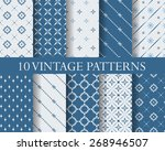 10 traditional patterns ... | Shutterstock .eps vector #268946507