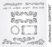 vector decorative elements | Shutterstock .eps vector #268947887
