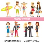 different people on summer... | Shutterstock .eps vector #268948967