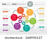 web template for circle diagram ...   Shutterstock .eps vector #268950137