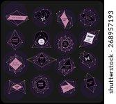 abstract polygonal label design.... | Shutterstock .eps vector #268957193