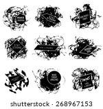 abstract set of blobs  splash ... | Shutterstock .eps vector #268967153