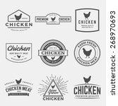 vector set of premium chicken... | Shutterstock .eps vector #268970693