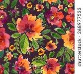 vector illustration for textile ... | Shutterstock .eps vector #268977533