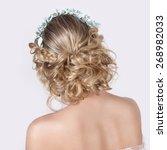 beautiful young sexy elegant... | Shutterstock . vector #268982033