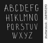 vector ink alphabet. ink font....   Shutterstock .eps vector #268985393