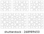vector set of various puzzles.... | Shutterstock .eps vector #268989653