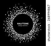 White Abstract Halftone Circle...