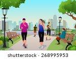 a vector illustration healthy... | Shutterstock .eps vector #268995953