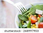 healthy eating  dieting ... | Shutterstock . vector #268997903