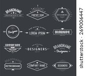 vintage logo set  retro design... | Shutterstock .eps vector #269006447