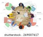 meeting information statistics... | Shutterstock . vector #269007617