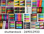 colorful modern text box... | Shutterstock .eps vector #269012933
