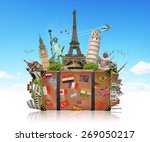 famous monuments of the world... | Shutterstock . vector #269050217