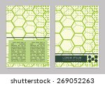 vector  business brochure or... | Shutterstock .eps vector #269052263