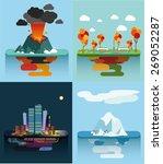 set of the vector islands... | Shutterstock .eps vector #269052287