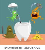 tooth and germs. vector flat... | Shutterstock .eps vector #269057723