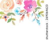 invitation card for wedding... | Shutterstock .eps vector #269064623