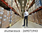 male manager man standing in...   Shutterstock . vector #269071943
