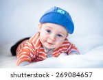 Little Cute Baby Lying On The...
