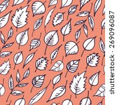 seamless pattern with hand... | Shutterstock .eps vector #269096087