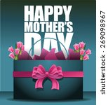 happy mothers day shopping bag... | Shutterstock .eps vector #269098967