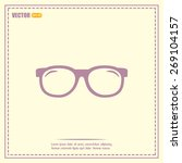 vector illustration glasses | Shutterstock .eps vector #269104157