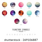 set of planetary icon symbols... | Shutterstock .eps vector #269106887