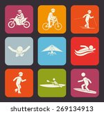 extreme sports design over gray ... | Shutterstock .eps vector #269134913