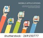 mobile application concept....   Shutterstock .eps vector #269150777