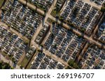 aerial view over graveyard in... | Shutterstock . vector #269196707