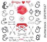 doodles  lettering ampersands... | Shutterstock .eps vector #269199167