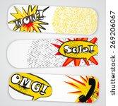 vector pop art banner explosion ... | Shutterstock .eps vector #269206067