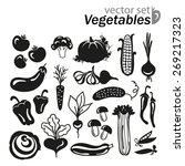vegetables icon set on a white...   Shutterstock .eps vector #269217323