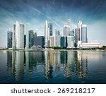 Singapore City Skyline Of...