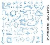 hand drawn vector arrow... | Shutterstock .eps vector #269218493