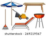 different objects used for... | Shutterstock .eps vector #269219567