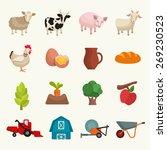 Farm Theme Icon Set