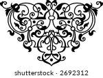 ornamental calligraphic corner... | Shutterstock .eps vector #2692312