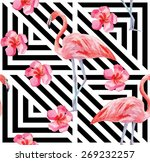 print beautiful tropic... | Shutterstock .eps vector #269232257