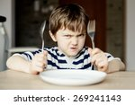 furious little boy waiting for... | Shutterstock . vector #269241143