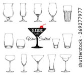 vector set of different glasses ...