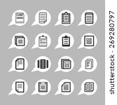 document icons | Shutterstock .eps vector #269280797