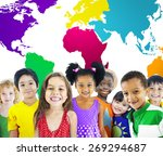 global globalization world map... | Shutterstock . vector #269294687