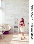 gorgeous bride with wedding...   Shutterstock . vector #269294837