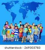 global globalization world map... | Shutterstock . vector #269303783
