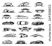 Set Of Twenty One Car Icons