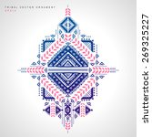 Mexican and African Vector Tribal ethnic ornament | Shutterstock vector #269325227